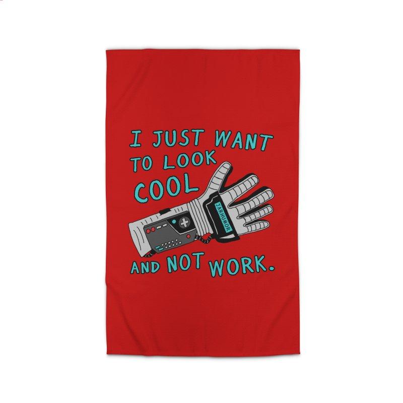 Look Cool Not Work (Power Glove) Home Rug by JARHUMOR