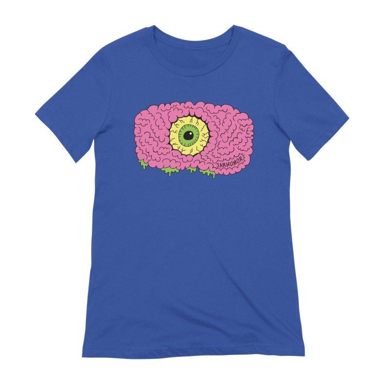 Eye Brain Monster Women's Extra Soft T-Shirt by JARHUMOR