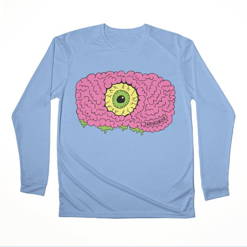 Eye Brain Monster Men's Longsleeve T-Shirt by JARHUMOR