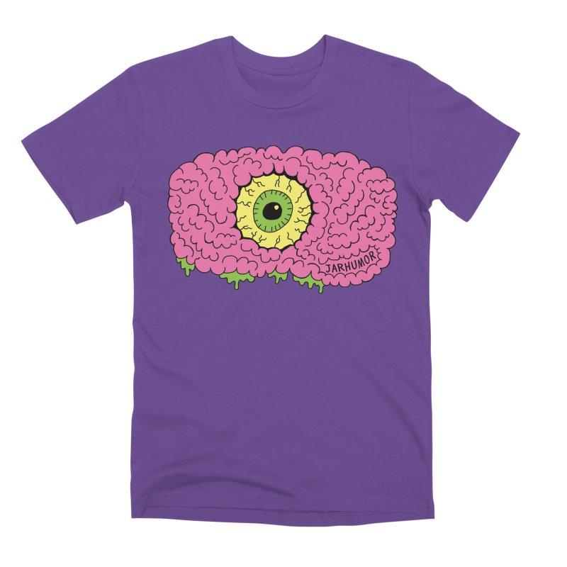 Eye Brain Monster Men's Premium T-Shirt by JARHUMOR