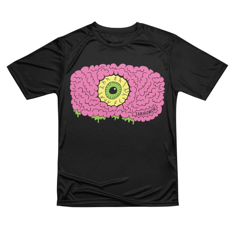 Eye Brain Monster Men's Performance T-Shirt by JARHUMOR