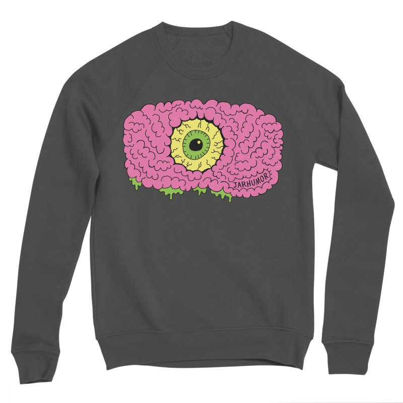 Eye Brain Monster Men's Sponge Fleece Sweatshirt by JARHUMOR