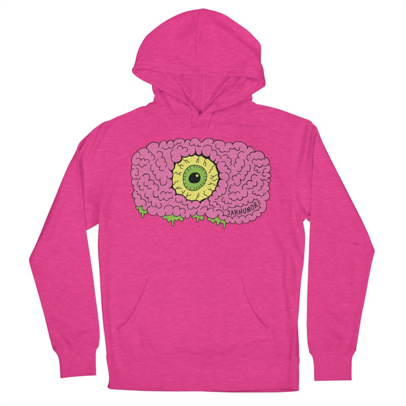 Eye Brain Monster Women's French Terry Pullover Hoody by JARHUMOR