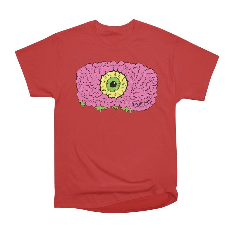 Eye Brain Monster Women's Heavyweight Unisex T-Shirt by JARHUMOR