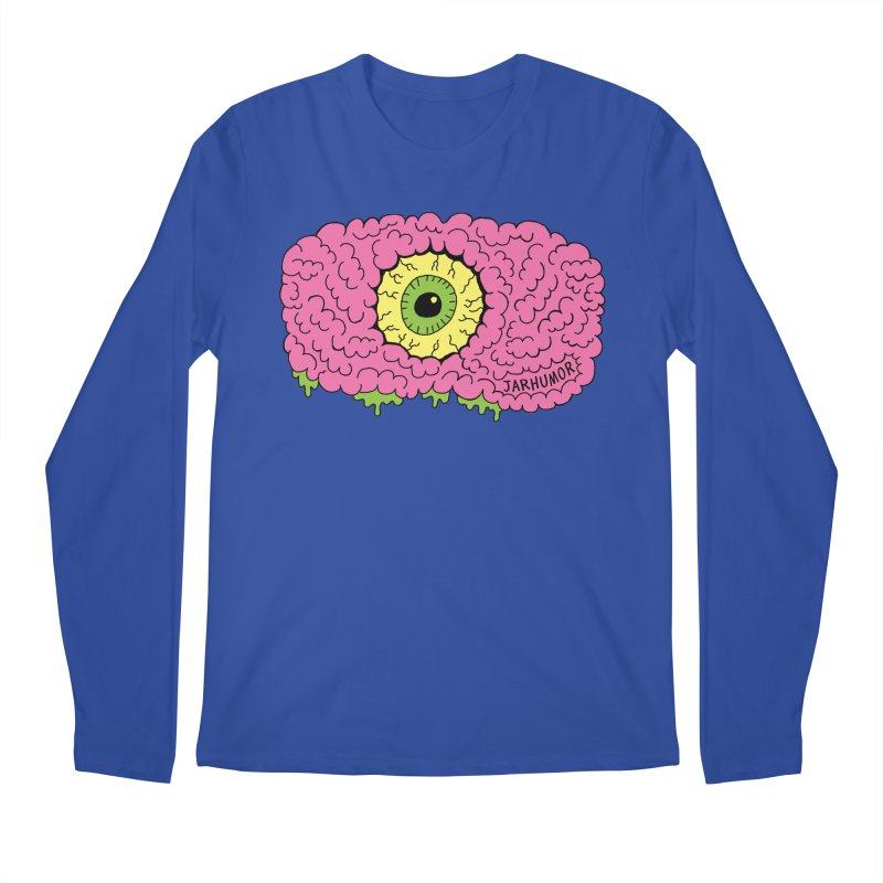 Eye Brain Monster Men's Regular Longsleeve T-Shirt by JARHUMOR