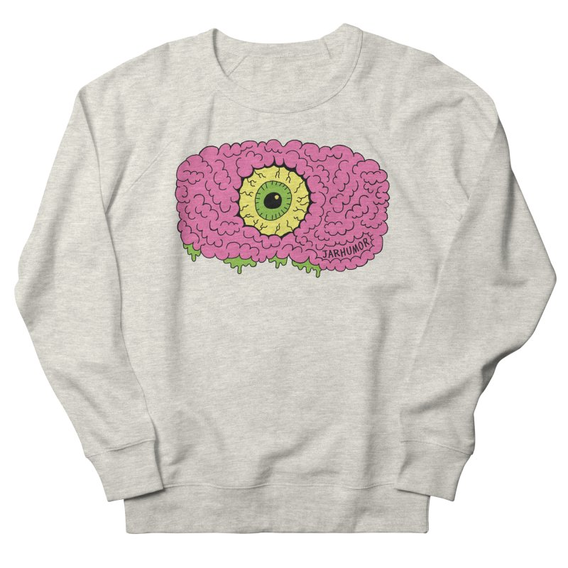 Eye Brain Monster Men's French Terry Sweatshirt by JARHUMOR