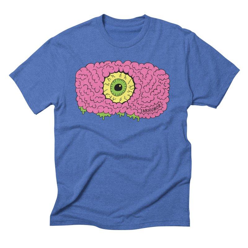 Eye Brain Monster Men's Triblend T-Shirt by JARHUMOR