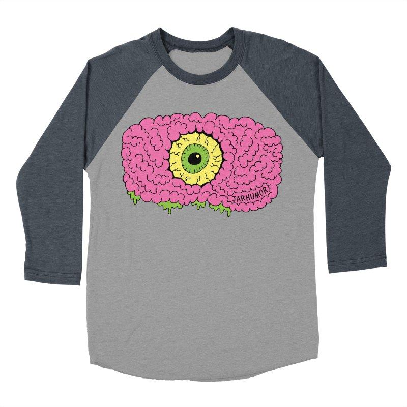 Eye Brain Monster Men's Baseball Triblend Longsleeve T-Shirt by JARHUMOR