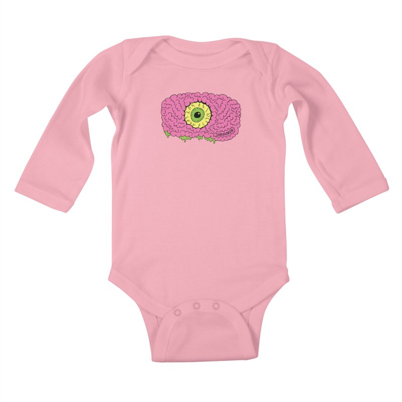 Eye Brain Monster Kids Baby Longsleeve Bodysuit by JARHUMOR