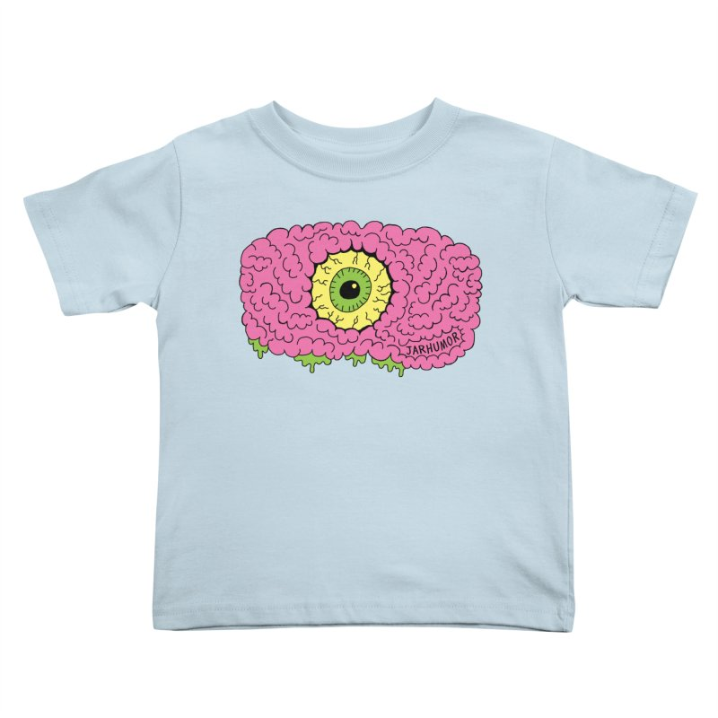 Eye Brain Monster Kids Toddler T-Shirt by JARHUMOR
