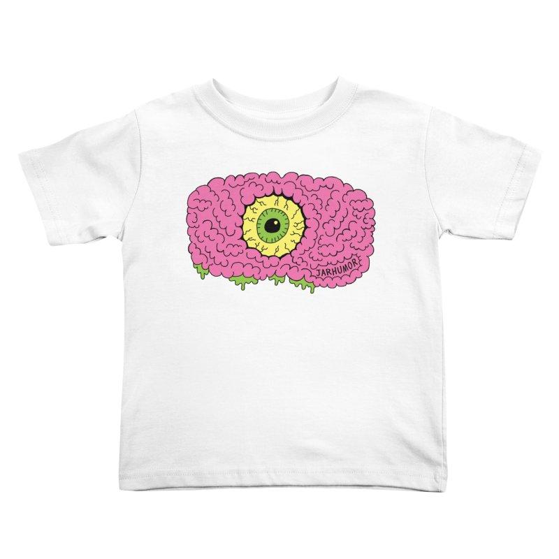 Eye Brain Monster Kids Toddler T-Shirt by JARHUMOR