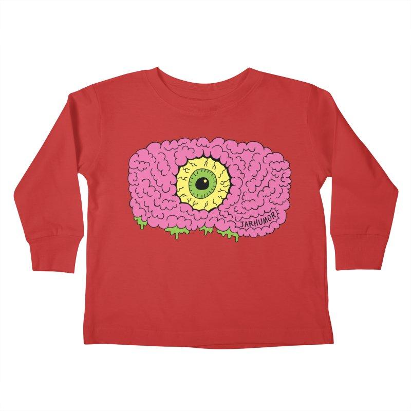 Eye Brain Monster Kids Toddler Longsleeve T-Shirt by JARHUMOR