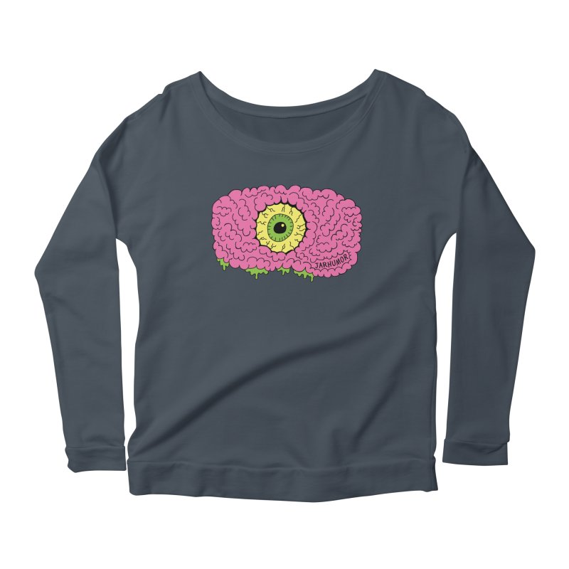 Eye Brain Monster Women's Scoop Neck Longsleeve T-Shirt by JARHUMOR
