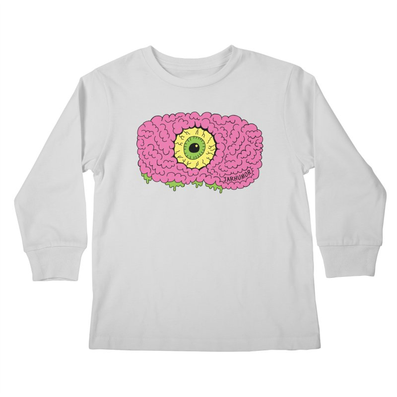 Eye Brain Monster Kids Longsleeve T-Shirt by JARHUMOR
