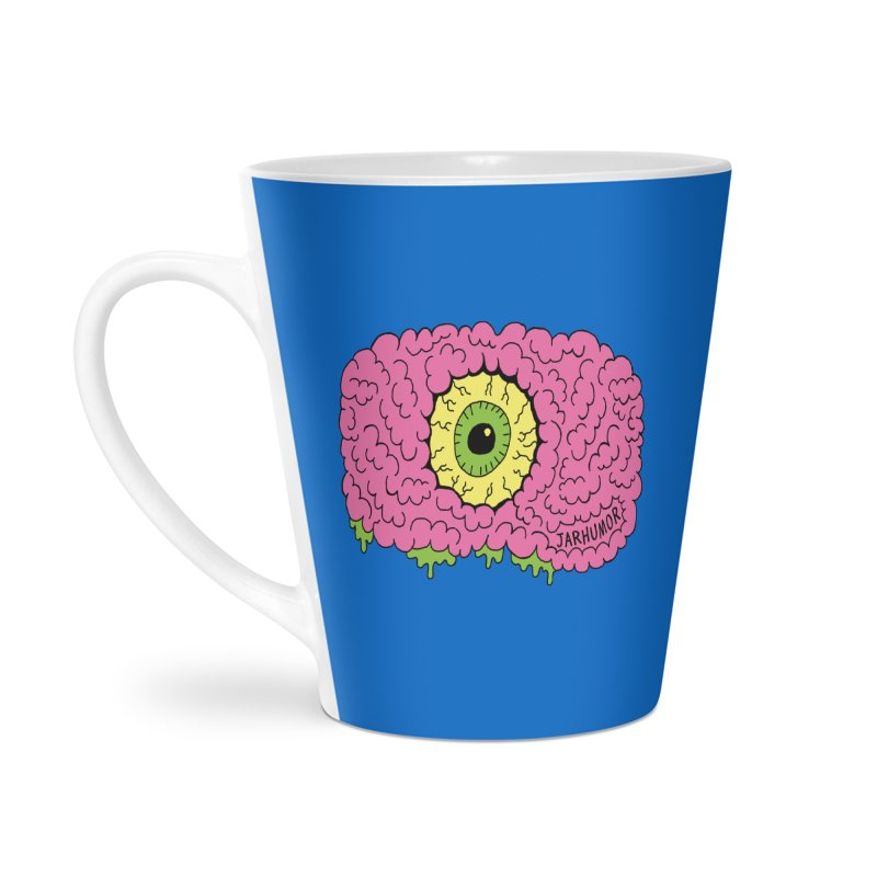 Eye Brain Monster Accessories Latte Mug by JARHUMOR