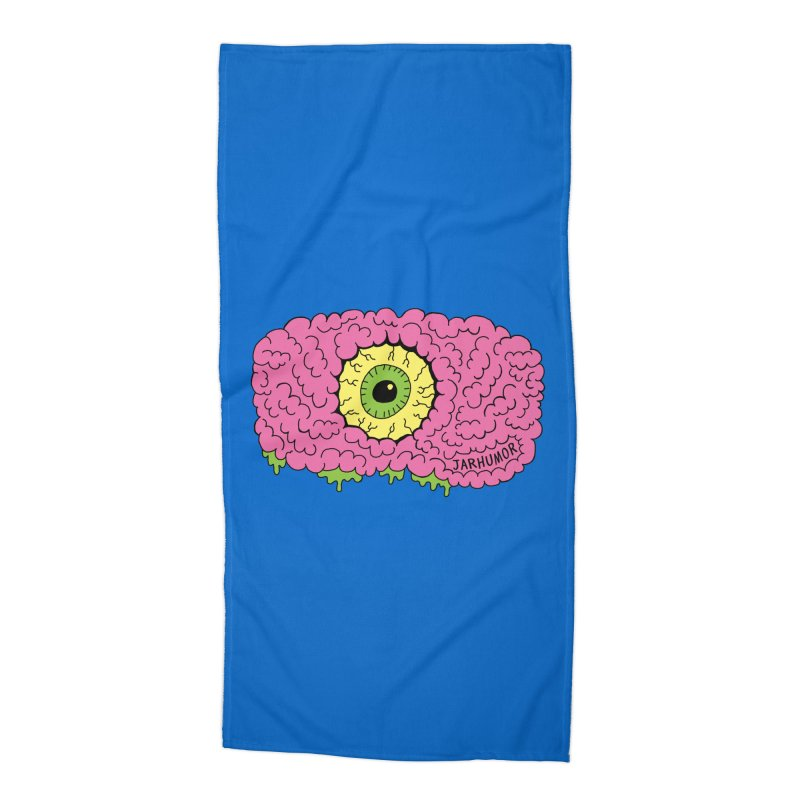 Eye Brain Monster Accessories Beach Towel by JARHUMOR