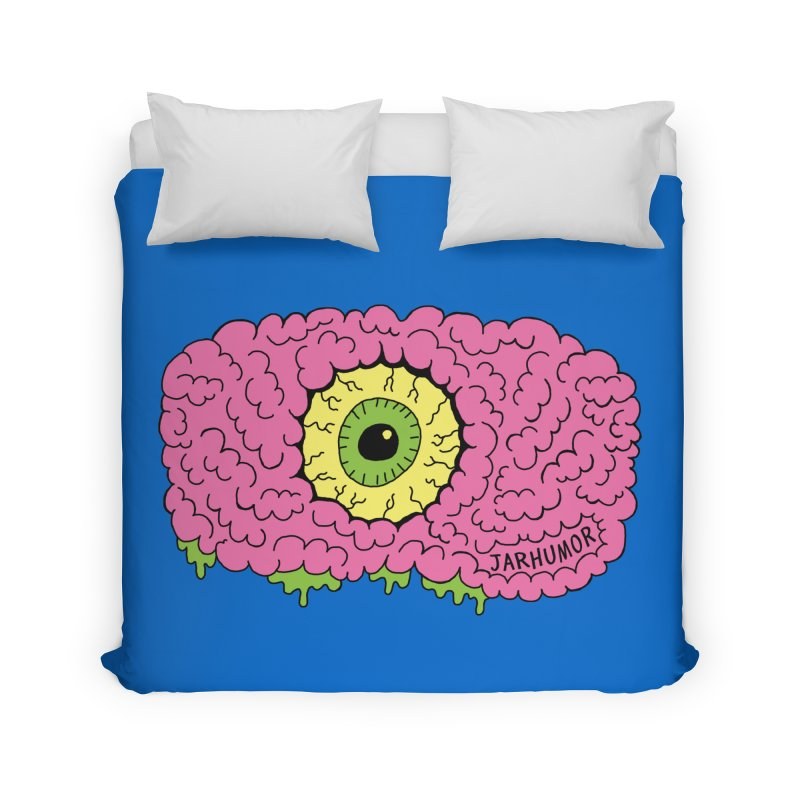 Eye Brain Monster Home Duvet by JARHUMOR