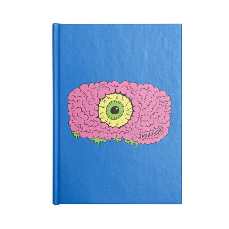 Eye Brain Monster Accessories Lined Journal Notebook by JARHUMOR