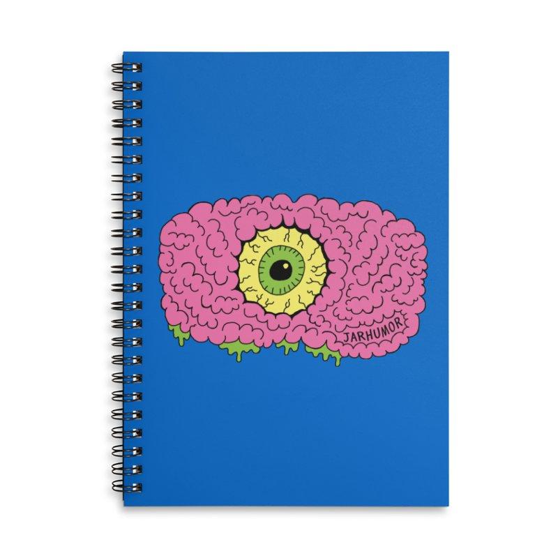 Eye Brain Monster Accessories Lined Spiral Notebook by JARHUMOR
