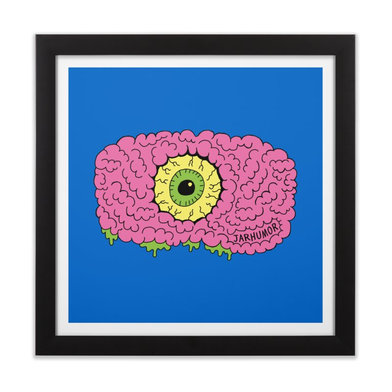 Eye Brain Monster Home Framed Fine Art Print by JARHUMOR