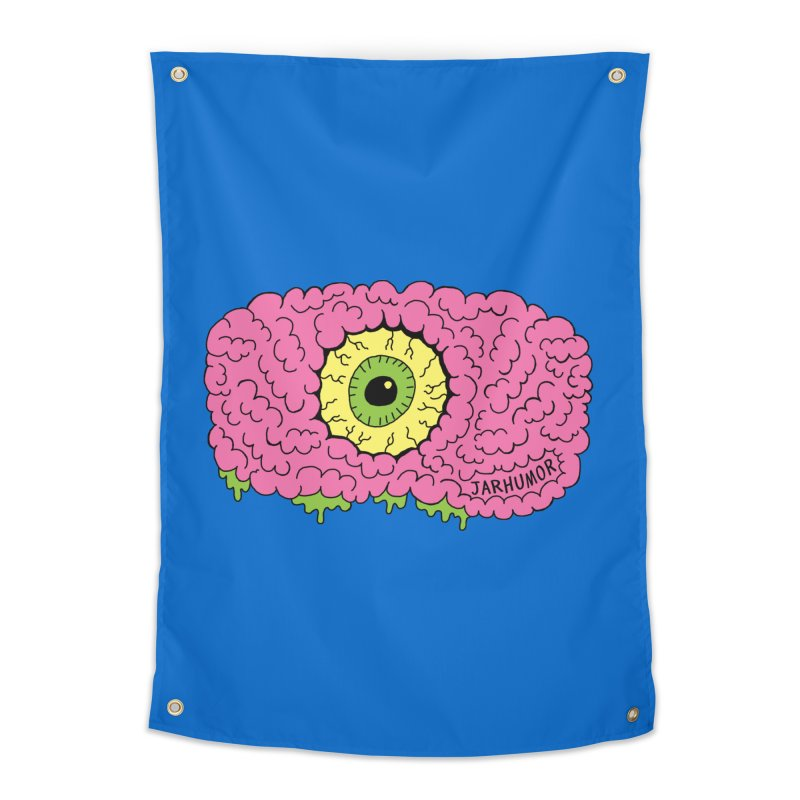 Eye Brain Monster Home Tapestry by JARHUMOR