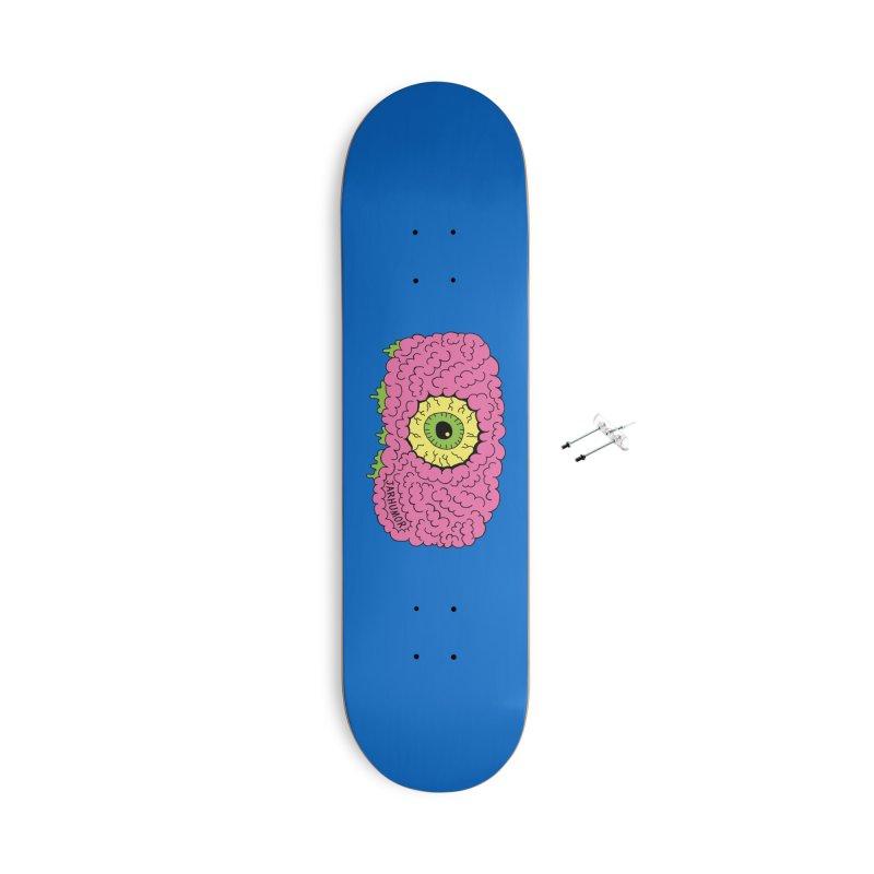 Eye Brain Monster Accessories With Hanging Hardware Skateboard by JARHUMOR