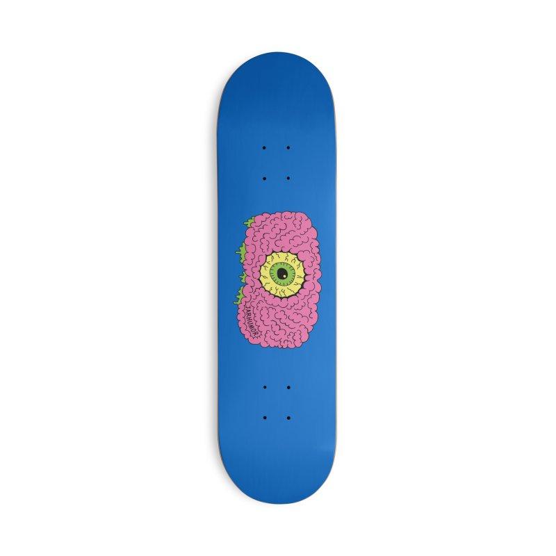 Eye Brain Monster Accessories Deck Only Skateboard by JARHUMOR