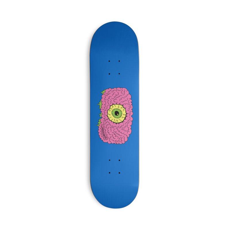 Eye Brain Monster Accessories Skateboard by JARHUMOR