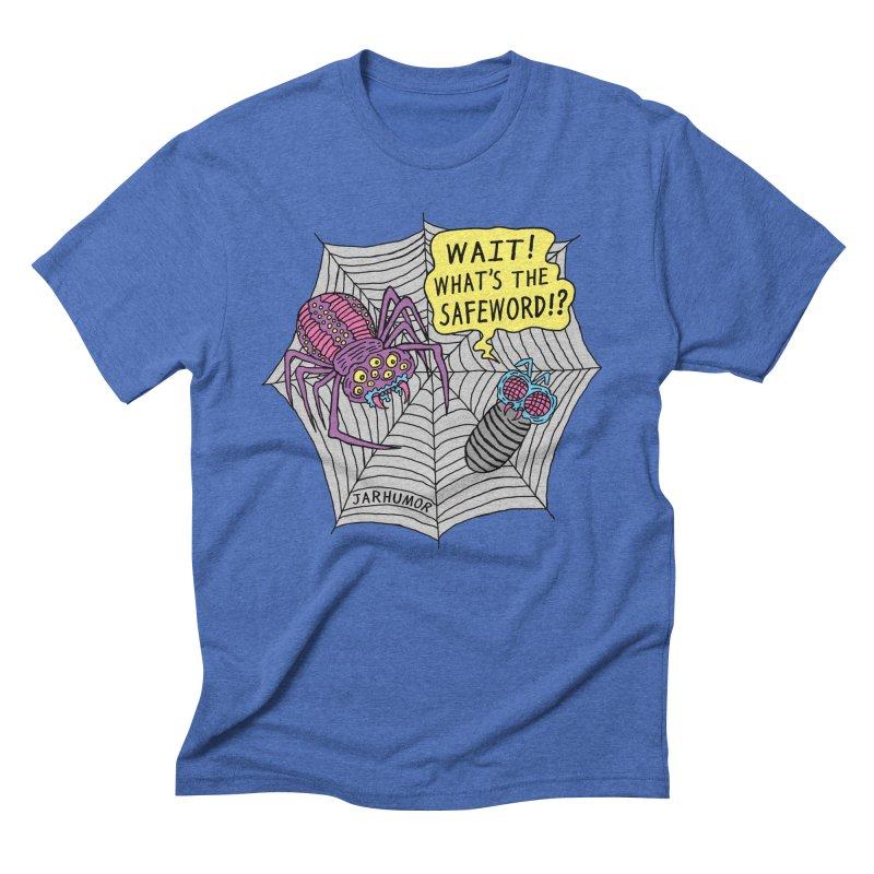 Spider Safeword Men's Triblend T-Shirt by JARHUMOR