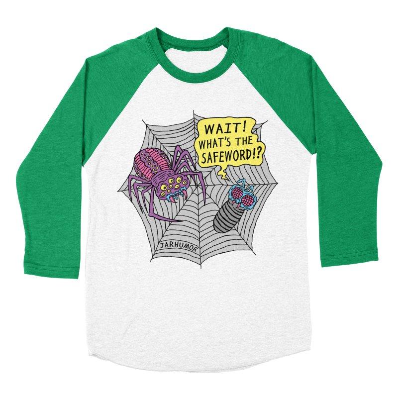 Spider Safeword Women's Baseball Triblend Longsleeve T-Shirt by JARHUMOR