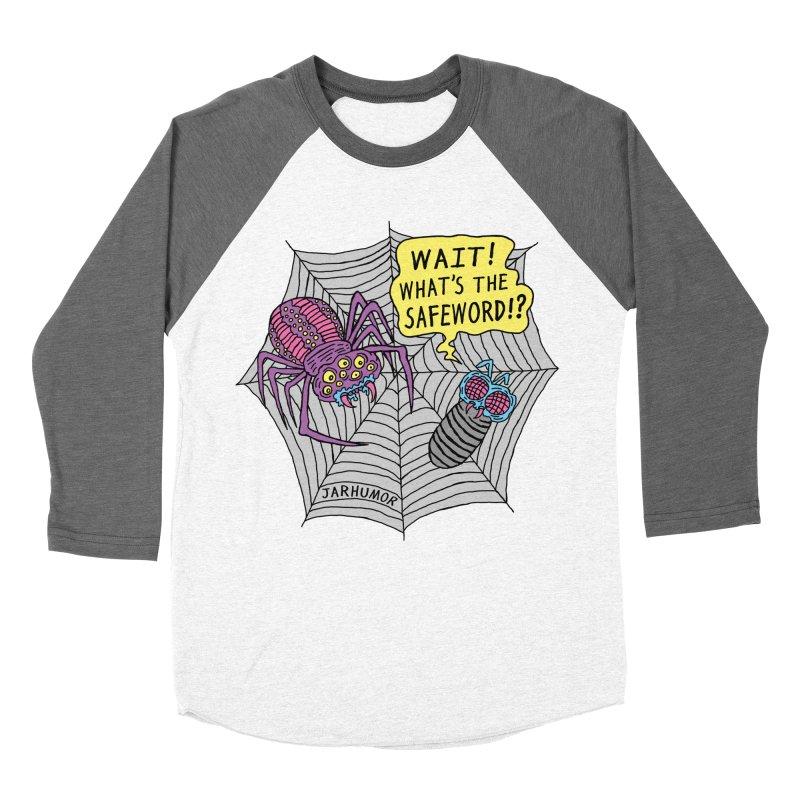 Spider Safeword Men's Baseball Triblend Longsleeve T-Shirt by JARHUMOR