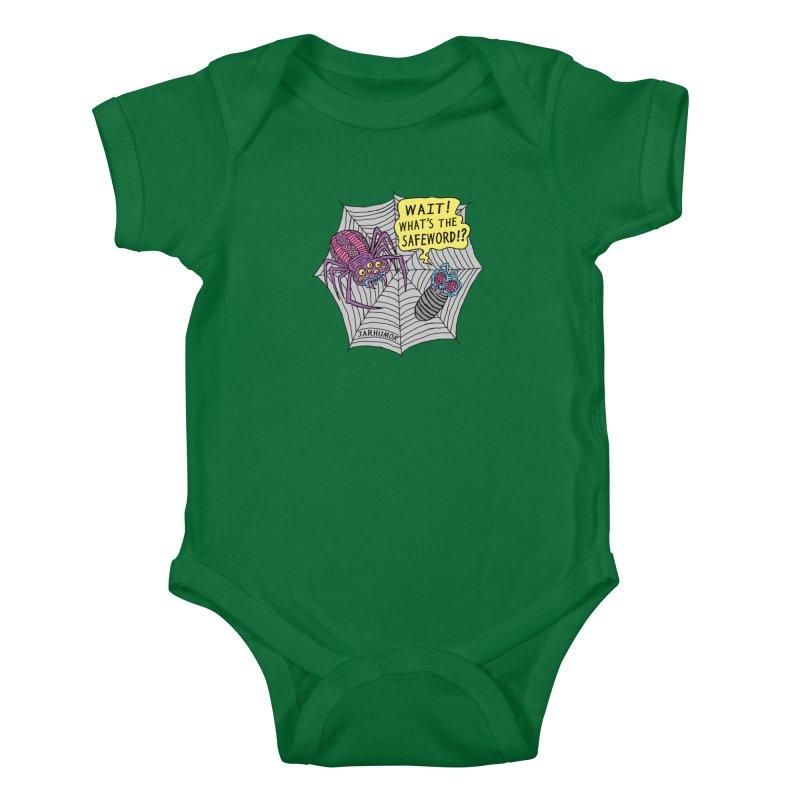 Spider Safeword Kids Baby Bodysuit by JARHUMOR