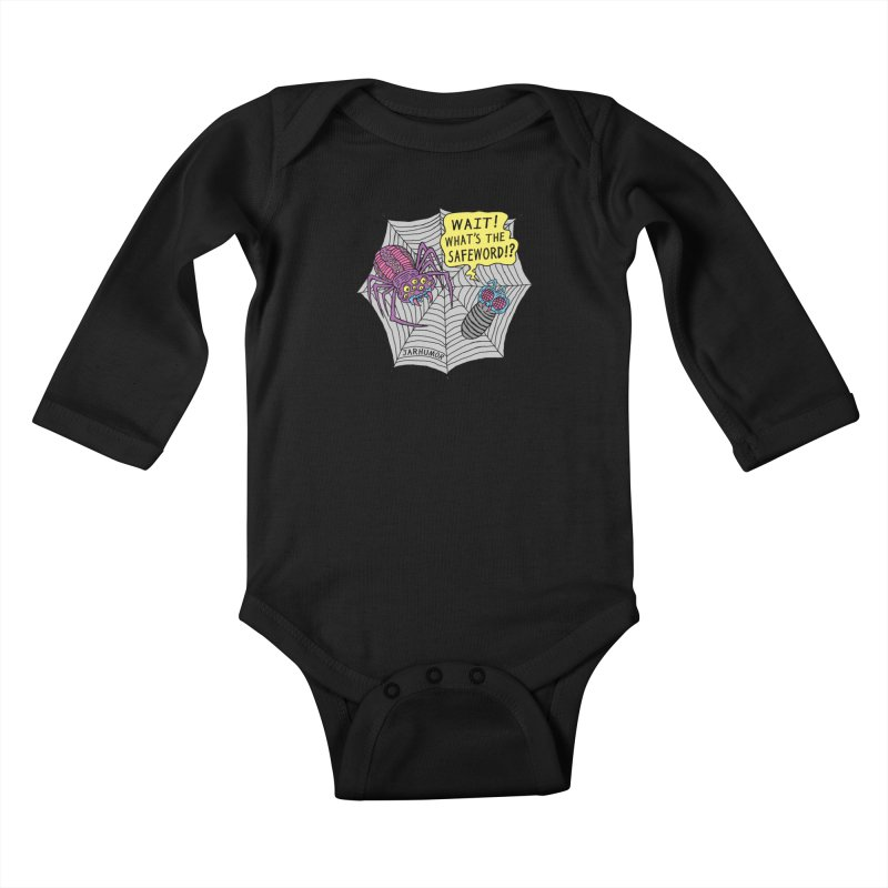 Spider Safeword Kids Baby Longsleeve Bodysuit by JARHUMOR