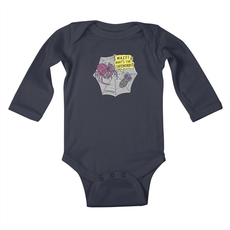 Spider Safeword Kids Baby Longsleeve Bodysuit by JARHUMOR