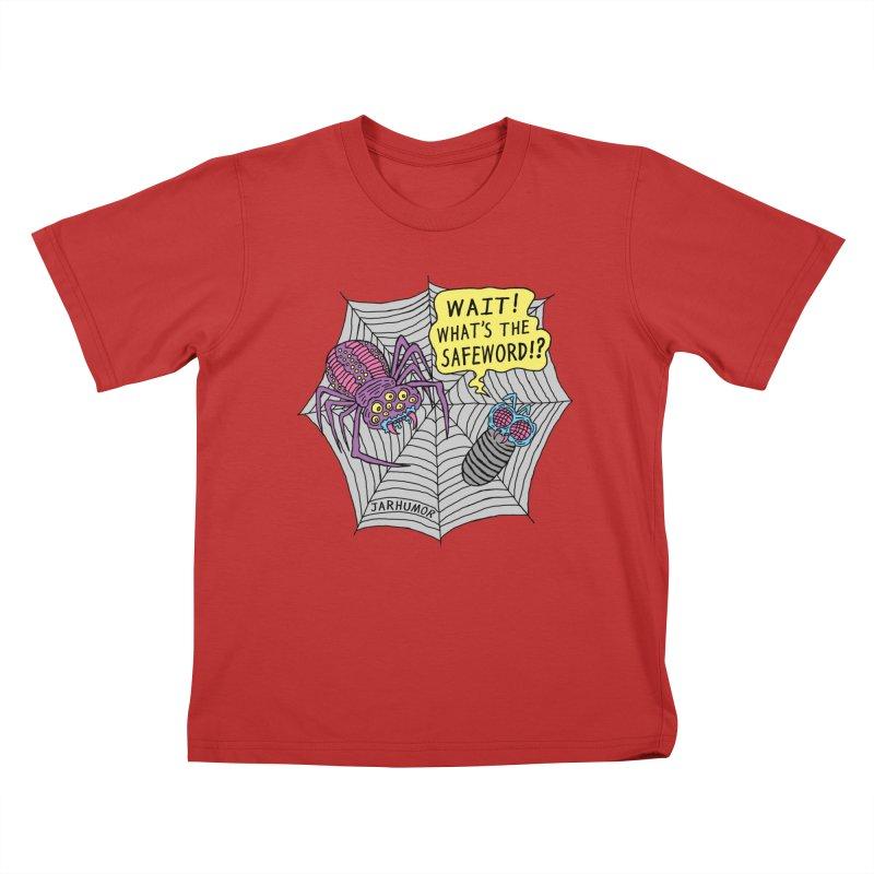Spider Safeword Kids T-Shirt by JARHUMOR
