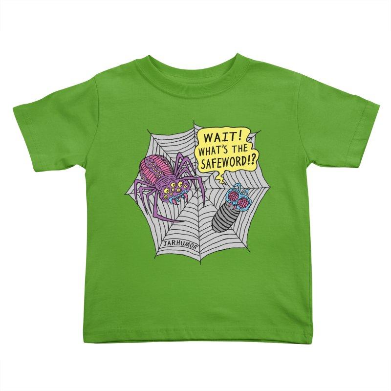 Spider Safeword Kids Toddler T-Shirt by JARHUMOR