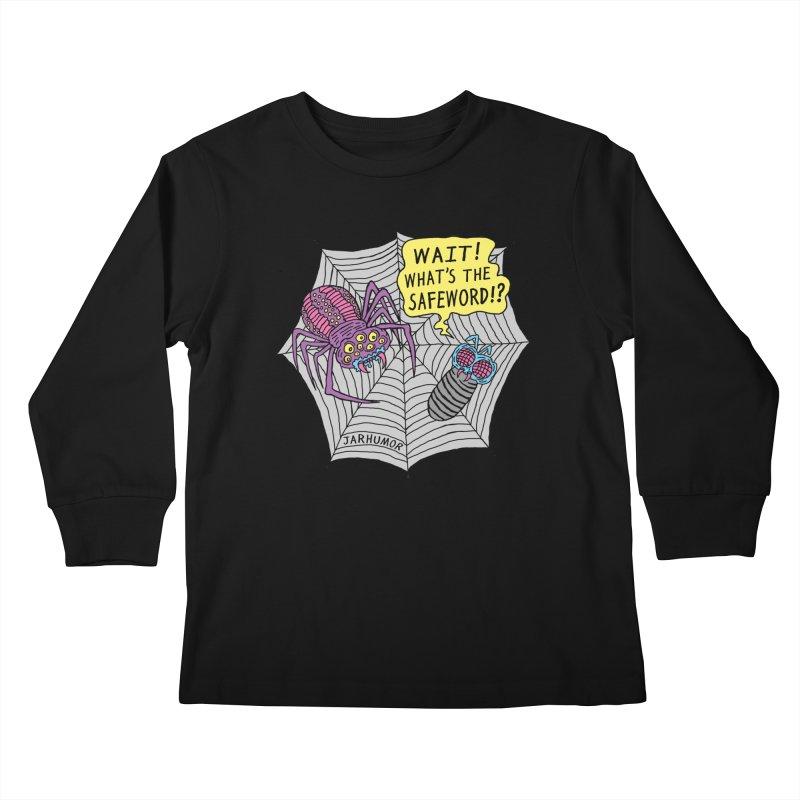 Spider Safeword Kids Longsleeve T-Shirt by JARHUMOR