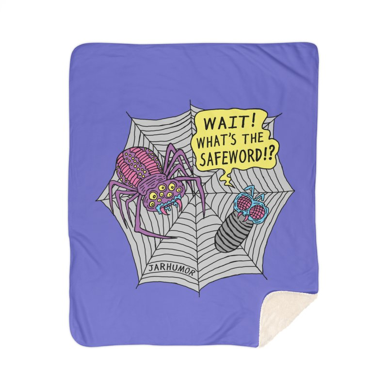 Spider Safeword Home Sherpa Blanket Blanket by JARHUMOR