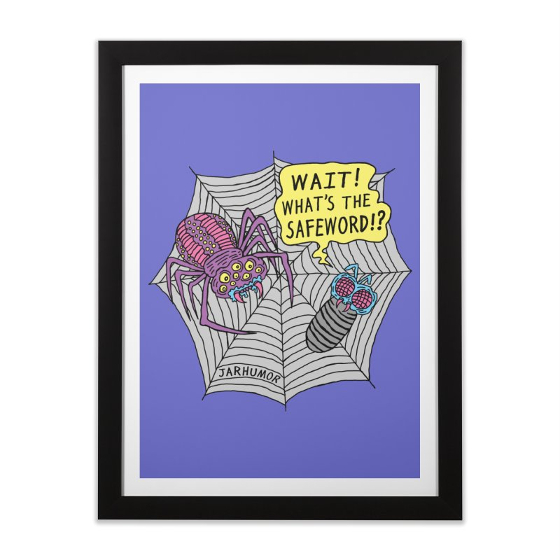 Spider Safeword Home Framed Fine Art Print by JARHUMOR