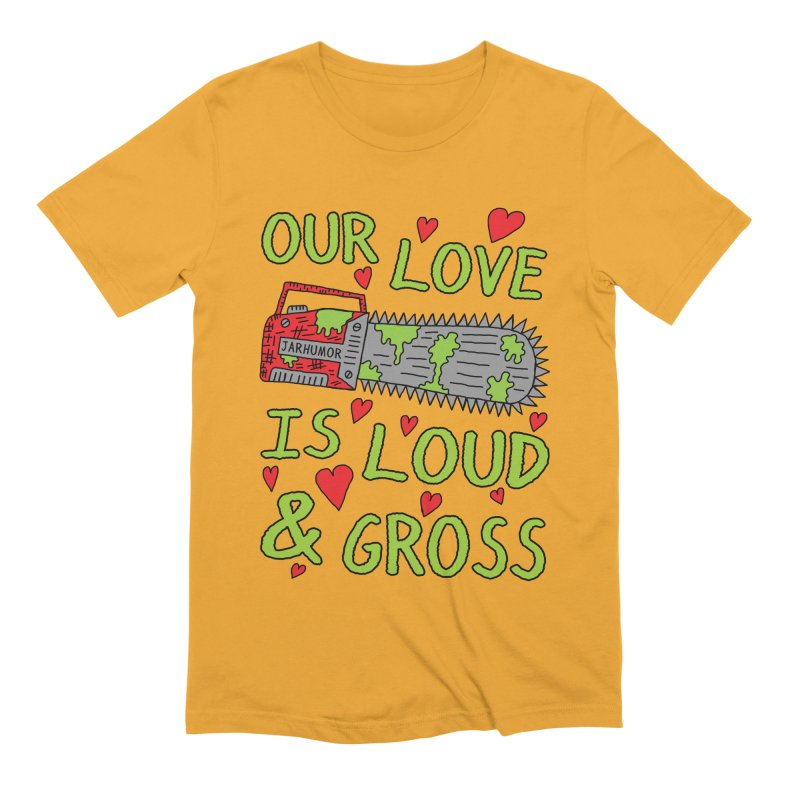 Chainsaw Love Men's Extra Soft T-Shirt by JARHUMOR