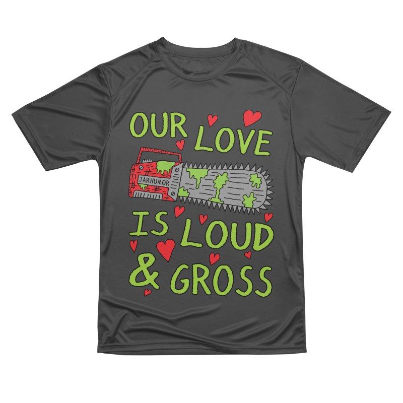 Chainsaw Love Women's Performance Unisex T-Shirt by JARHUMOR