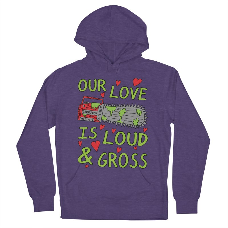 Chainsaw Love Women's French Terry Pullover Hoody by JARHUMOR