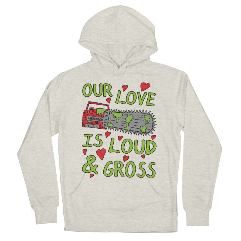 Chainsaw Love Men's French Terry Pullover Hoody by JARHUMOR
