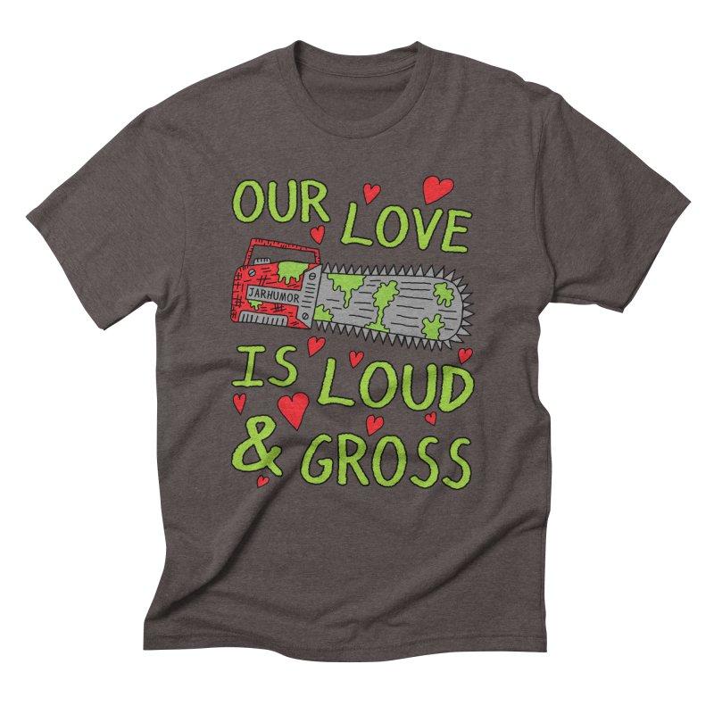 Chainsaw Love Men's Triblend T-Shirt by JARHUMOR