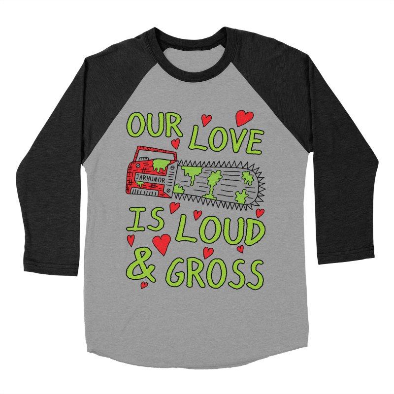Chainsaw Love Women's Baseball Triblend Longsleeve T-Shirt by JARHUMOR