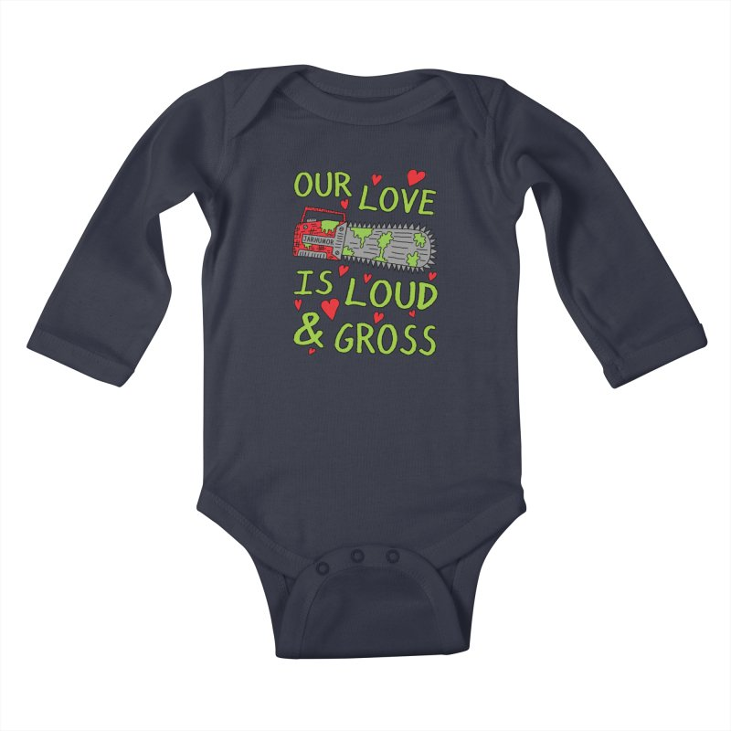 Chainsaw Love Kids Baby Longsleeve Bodysuit by JARHUMOR