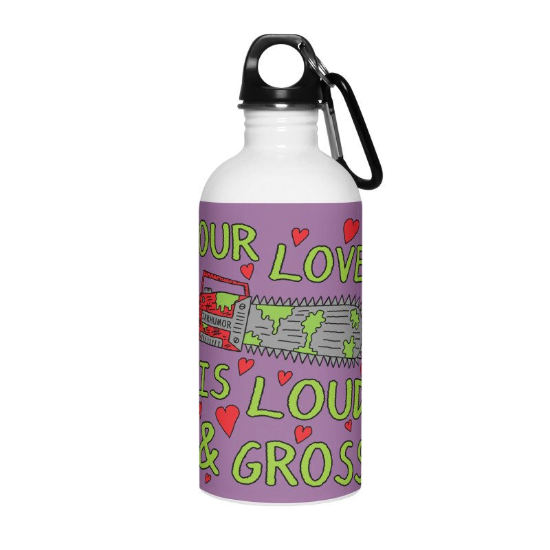 Chainsaw Love Accessories Water Bottle by JARHUMOR