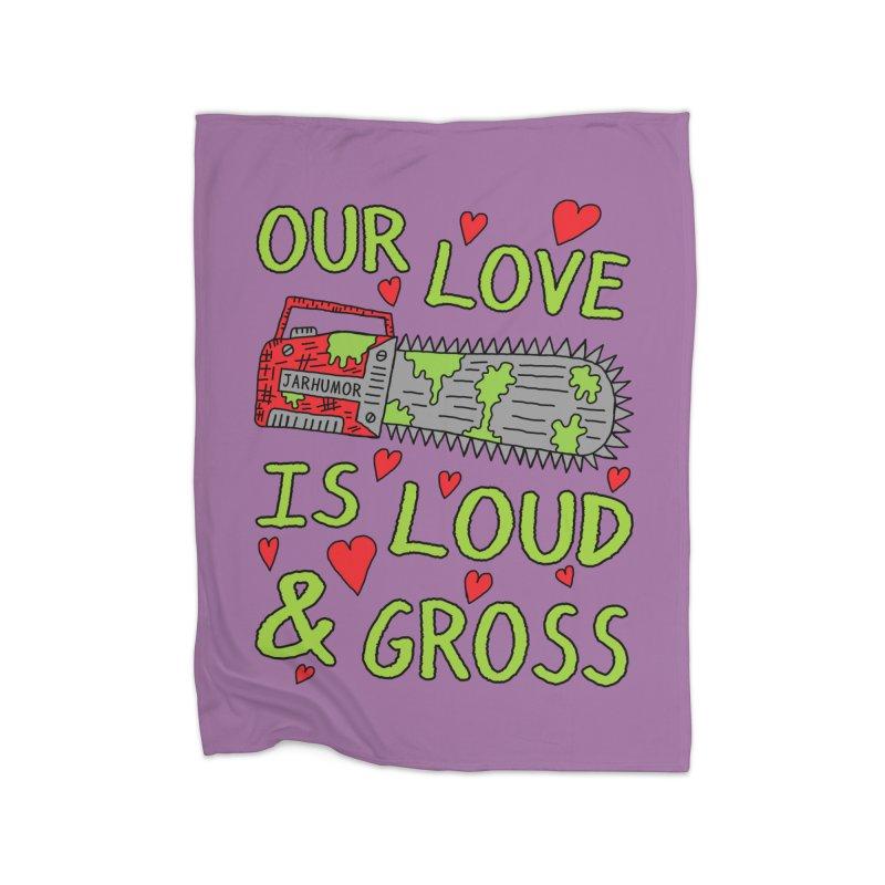 Chainsaw Love Home Fleece Blanket Blanket by JARHUMOR