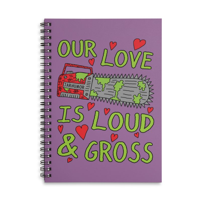 Chainsaw Love Accessories Lined Spiral Notebook by JARHUMOR