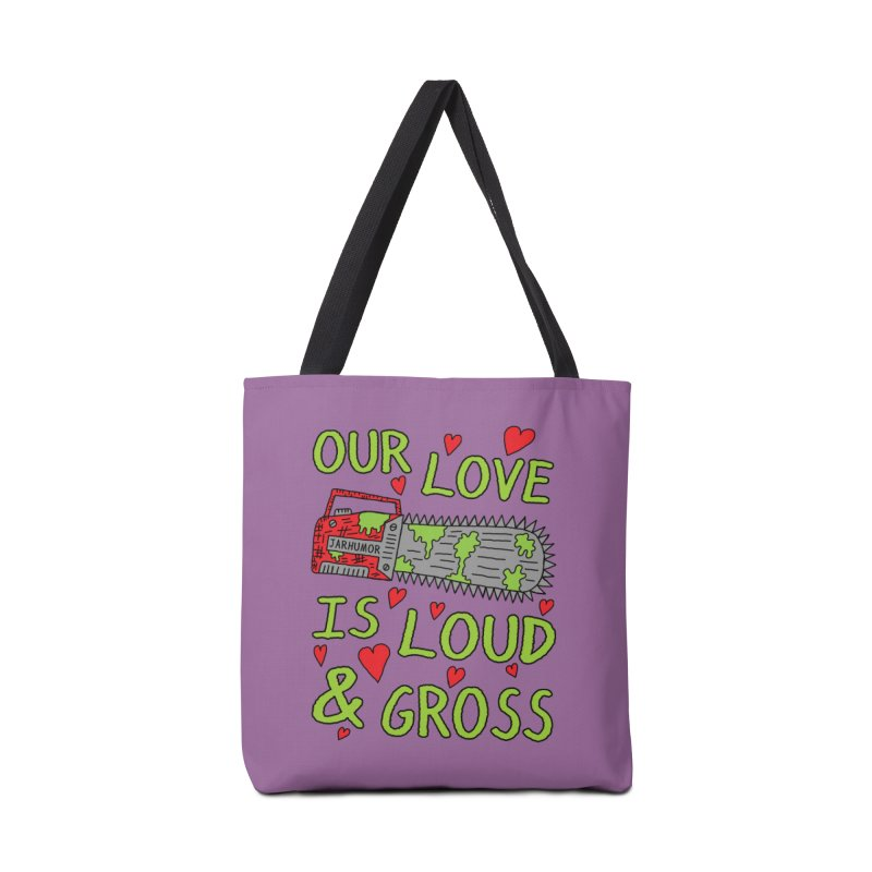 Chainsaw Love Accessories Tote Bag Bag by JARHUMOR
